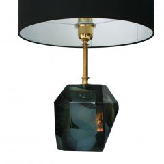 Pair Of Murano Glass And Brass Table Lamps - 1591455