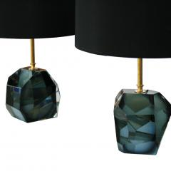 Pair Of Murano Glass And Brass Table Lamps - 1591456
