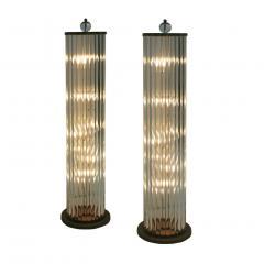 Pair Of Murano Glass Italian Floor Lamps 70s - 1626117