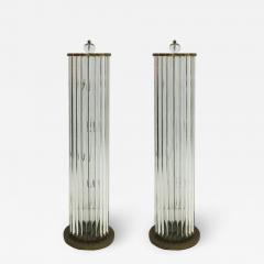 Pair Of Murano Glass Italian Floor Lamps 70s - 1627480