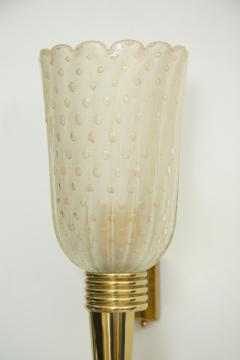 Pair Of Murano Glass Torchiere Wall Sconces - 1946965