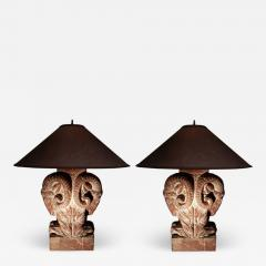 Pair Of Ram Head Classical Form Lamps - 1839923