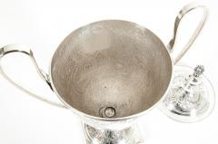 Pair Old English Plated Trophy Cup Urn - 1130362