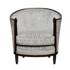 Pair Paul Follot design armchairs - 1125152