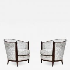 Pair Paul Follot design armchairs - 1126296