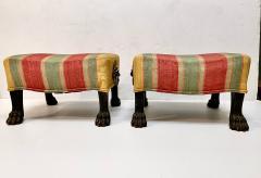 Pair Regency Hairy Paw Foot Stools - 1916551
