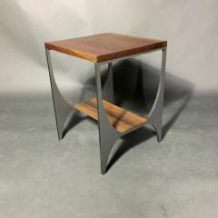 Pair Richard Velloso Curves of Grace Black Walnut Steels Side Tables - 1316636