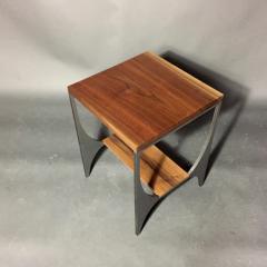 Pair Richard Velloso Curves of Grace Black Walnut Steels Side Tables - 1316639
