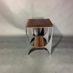 Pair Richard Velloso Curves of Grace Black Walnut Steels Side Tables - 1316640