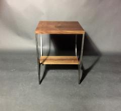 Pair Richard Velloso Curves of Grace Black Walnut Steels Side Tables - 1316641