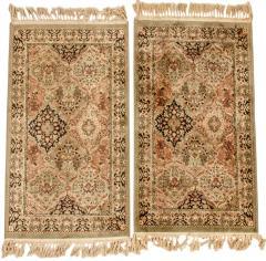 Pair Silk Handmade Area Rugs - 1133238