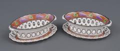 Pair Spode Chestnut Baskets Circa 1820 - 821779