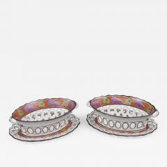 Pair Spode Chestnut Baskets Circa 1820 - 843745