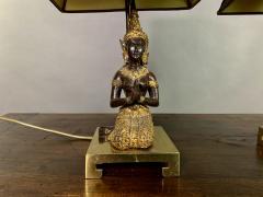 Pair Thai Thepphanom Angel Table Lamps Brass Base - 1805999