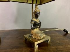 Pair Thai Thepphanom Angel Table Lamps Brass Base - 1806000