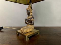 Pair Thai Thepphanom Angel Table Lamps Brass Base - 1806002