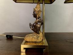 Pair Thai Thepphanom Angel Table Lamps Brass Base - 1806006