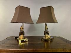 Pair Thai Thepphanom Angel Table Lamps Brass Base - 1806009
