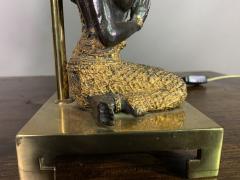 Pair Thai Thepphanom Angel Table Lamps Brass Base - 1806011