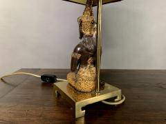 Pair Thai Thepphanom Angel Table Lamps Brass Base - 1806018