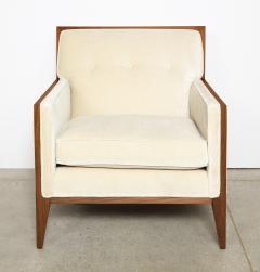 Pair Walnut Lounge Chairs - 992114