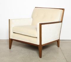 Pair Walnut Lounge Chairs - 992115