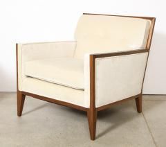Pair Walnut Lounge Chairs - 992116