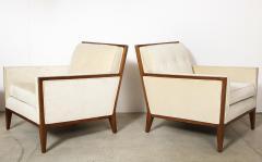 Pair Walnut Lounge Chairs - 992118