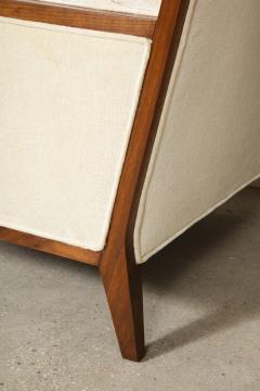 Pair Walnut Lounge Chairs - 992123