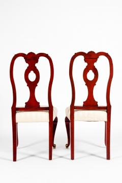 Pair Wood Framed Gilt Design Detail Side Chairs - 1037736