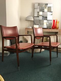 Pair armchairs by George Reinoehl for Stow Davis - 778155