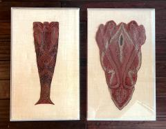 Pair framed Antique Parsley Shaw Fragments - 2114324