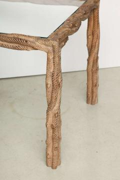 Pair mid century carved side tables - 940512