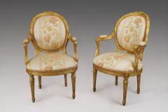 Pair of 18th Century Carved Gilt Armchairs - 118210