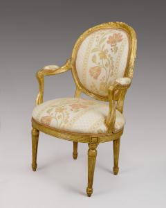 Pair of 18th Century Carved Gilt Armchairs - 118211