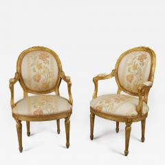 Pair of 18th Century Carved Gilt Armchairs - 122040