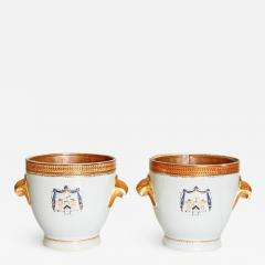 Pair of 18th Century Chinese Export Armorial Wine Coolers - 2038505