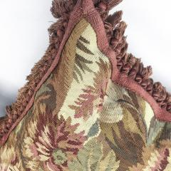 Pair of 18th Century French Floral Tapestry Large Square Cushions - 979830