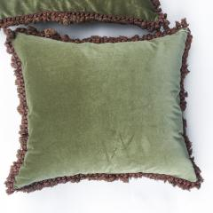 Pair of 18th Century French Floral Tapestry Large Square Cushions - 979837