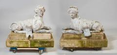 Pair of 18th Century French Lead Sphinxes - 1647640