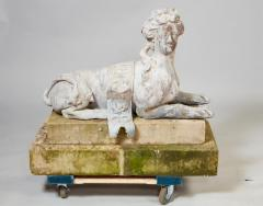 Pair of 18th Century French Lead Sphinxes - 1647641