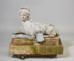 Pair of 18th Century French Lead Sphinxes - 1647642