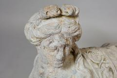 Pair of 18th Century French Lead Sphinxes - 1647643