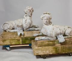 Pair of 18th Century French Lead Sphinxes - 1647644