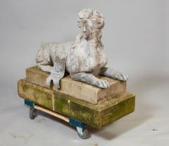 Pair of 18th Century French Lead Sphinxes - 1647645