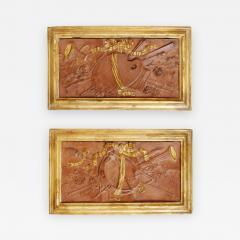 Pair of 18th Century Terra cotta Trophy Reliefs - 577364