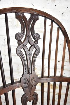 Pair of 18th century English George III Yew Wood Cabriole Leg Windsor Chairs - 1051203
