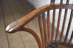 Pair of 18th century English George III Yew Wood Cabriole Leg Windsor Chairs - 1051206
