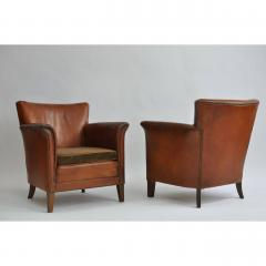 Pair of 1930s Danish Leather Club Chairs - 1743060