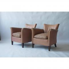 Pair of 1930s Danish Leather Club Chairs - 1743073